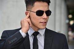 Luister Diverse Veiligheidsagent Wearing Sunglasses stock foto's