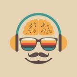 Luister een lied royalty-vrije illustratie