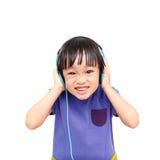 Luister een muziek stock fotografie