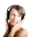 Luister muziek stock afbeeldingen