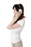 Luister muziek royalty-vrije stock foto