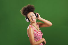 Luister muziek royalty-vrije stock foto's