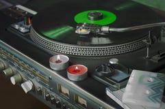Luister Muziek met Kaarsen stock afbeeldingen