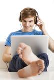 Luister podcast Royalty-vrije Stock Afbeeldingen