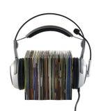 Luisterend aan muziekconcept, met het knippen van weg Royalty-vrije Stock Afbeeldingen