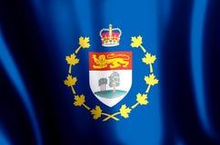 Luitenant-gouverneur van de het kleurrijke golven van Prins Edward Eilanden en illustratie van de close-upvlag stock illustratie