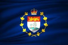Luitenant-gouverneur van de vlagillustratie van Prins Edward Eilanden stock illustratie