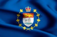 Luitenant-gouverneur van de vlagillustratie van Prins Edward Eilanden vector illustratie