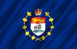 Luitenant-gouverneur van realistische de vlagillustratie van Prins Edward Eilanden stock illustratie