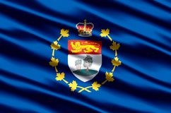Luitenant-gouverneur van realistische de vlagillustratie van Prins Edward Eilanden royalty-vrije illustratie