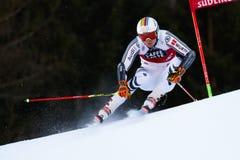 LUITZ Stefan in Audi Fis Alpine Skiing World-Kop Men's Reuzes stock afbeelding