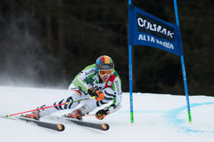 LUITZ Stefan (GER). Alta Badia, ITALY 22 LUITZ Stefan (GER) competing in the Audi FIS Alpine Skiing World Cup MEN'S GIANT SLALOM Royalty Free Stock Image