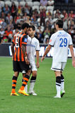 Luiz Adriano clarifies the relationship with your opponent on the field Stock Images