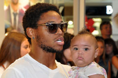 Luiz Adriano and his daughter Stock Photo