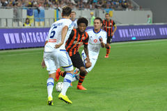 Luiz Adriano is waiting for the ball Stock Images
