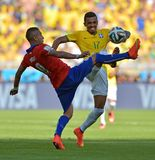 Luiz Gustavo  and Arturo Vidal Coupe du Monde 2014 Royalty Free Stock Photos