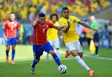 Luiz Gustavo and  Mauricio Isla Coupe du Monde 2014 Royalty Free Stock Photography