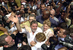 Luiz Inacio Lula da Silva. N10/27/2002nElections 2002 - 2nd Shift . The candidate for presidency of the Republic , Luiz Inacio Lula da Silva vote this morning at Stock Photography