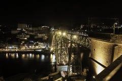 Luiz 1st bro i Porto Royaltyfria Bilder