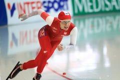 Luiza Zlotkowska - åka skridskor för hastighet Fotografering för Bildbyråer