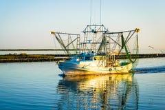 Luizjana garneli łódź fotografia stock