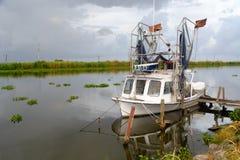 Luizjana garneli łódź zdjęcie royalty free