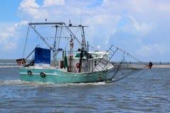 Luizjana garneli łódź obraz stock