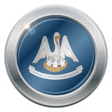 Luizjana stanu flaga srebra ikona Obrazy Stock