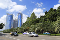 Lujiangdao road of amoy city Royalty Free Stock Images