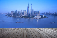 Lujiazui around by Huangpu river-Shanghai finance center Royalty Free Stock Images
