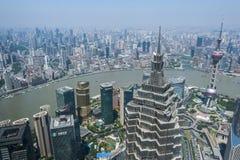 Lujiazui around by Huangpu river-Shanghai finance center Royalty Free Stock Photo