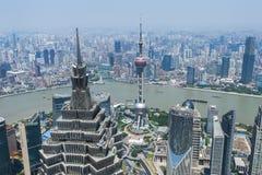 Lujiazui around by Huangpu river-Shanghai finance center Stock Image