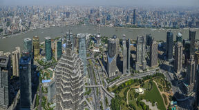 Lujiazui around by Huangpu river-Shanghai finance center Royalty Free Stock Photography