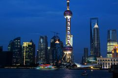 Lujiazui CBD Skyscrapers Stock Images