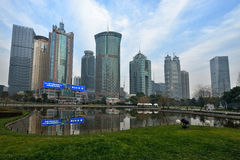 Lujiazui Central Green Space, Shanghai Stock Photo
