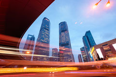Lujiazui District in Shanghai - China Royalty Free Stock Image
