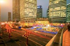 Lujiazui finance&Trade strefa nowożytny miastowy architektury backgro zdjęcie stock