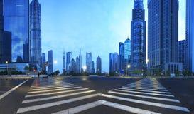 Lujiazui finance&Trade strefa nowożytny miastowy architektury backgro zdjęcia royalty free