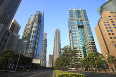 Lujiazui Finance&Trade strefa nowożytny miastowy architektury backgro obraz royalty free