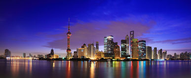 Lujiazui Finance&Trade Zone Royalty Free Stock Images