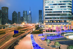 Lujiazui Finance&Trade Zone of modern urban architecture backgro Royalty Free Stock Image