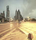 Lujiazui Finance&Trade Zone of modern urban architecture backgro Stock Photography
