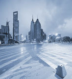 Lujiazui Finance&Trade Zone of modern urban architecture backgro Royalty Free Stock Images
