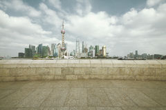 Lujiazui Finance&Trade Zone of Shanghai landmark skyline at city Stock Photos