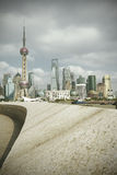 Lujiazui Finance&Trade Zone of Shanghai landmark skyline at city. Shanghai landmark skyline at city landscape Royalty Free Stock Images