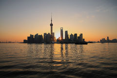 Lujiazui Finance&Trade Zone of Shanghai at New landmark skyline. Shanghai landmark at New skyline Stock Photos