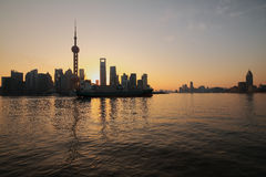 Lujiazui Finance&Trade Zone of Shanghai at New landmark skyline. Shanghai landmark at New skyline Royalty Free Stock Photo