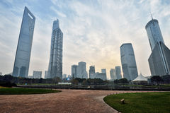 Lujiazui Financial Centre Skyline Royalty Free Stock Photography