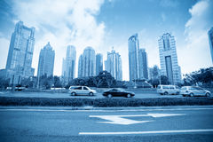 Lujiazui financial district with century avenue Stock Images