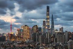 Lujiazui financieel centrum van Shanghai stock fotografie